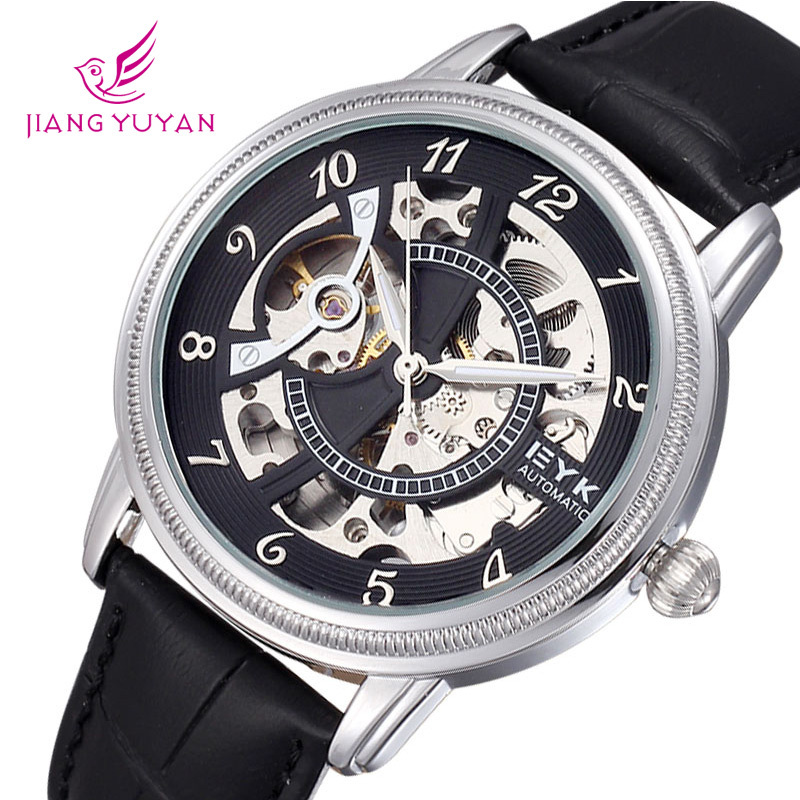 Здесь можно купить  EYKI Brand Watch Men Mechanical Watches Automatic Self-wind Leather Strap Wristwatch  EYKI Brand Watch Men Mechanical Watches Automatic Self-wind Leather Strap Wristwatch  Ювелирные изделия и часы