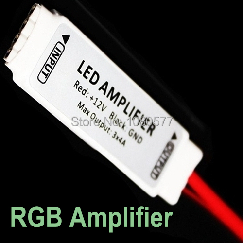 10pcs/lot Mini LED Amplifier Cable Repeater Controller 12V 12A 144W LED Strip Signal Amplifier For 3528 5050 RGB Color Strips(China (Mainland))