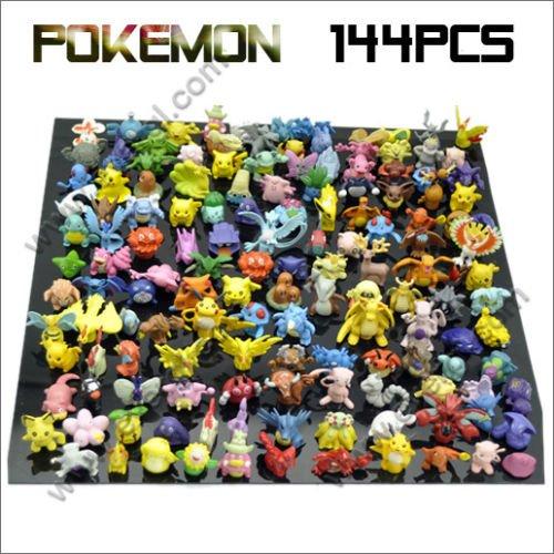 Whole sale Lots 144pcs Pokemon Action Figures 2-3cm Free Shipping to worldwide(China (Mainland))