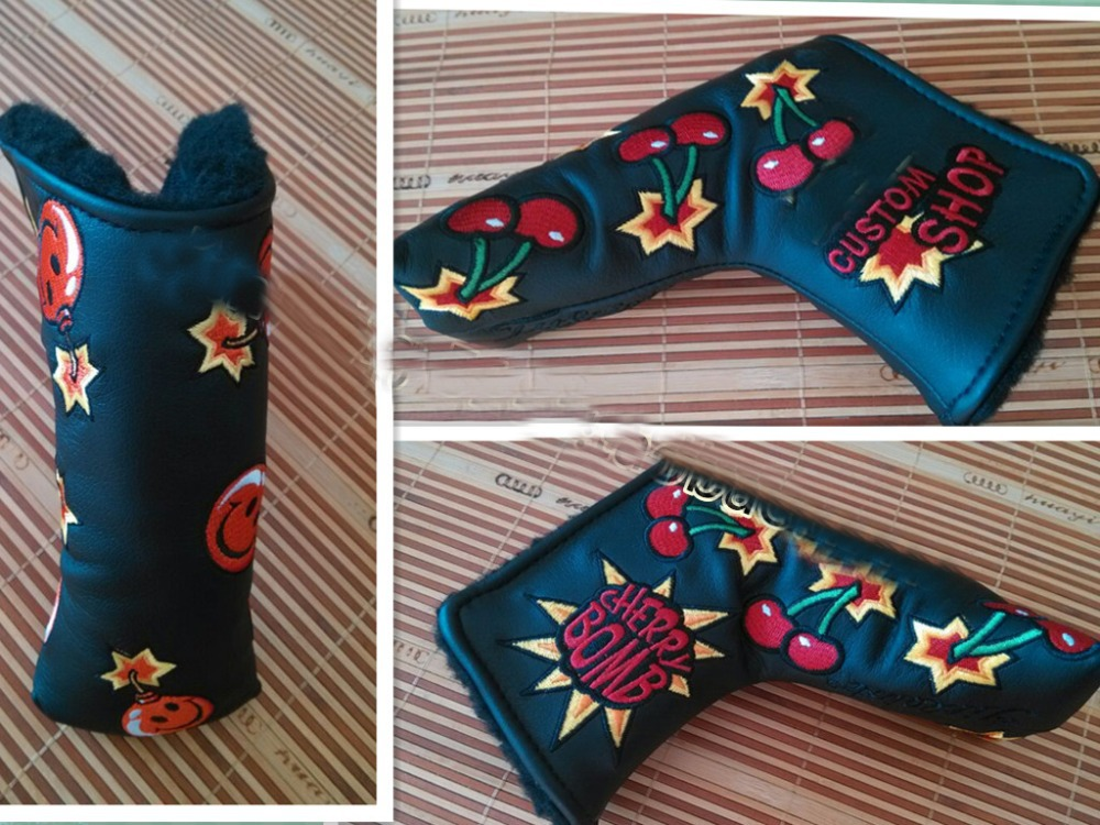 New Brand Golf Putter headcover Golf Club Head Covers with Cherry BombZ012(China (Mainland))