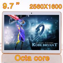 9 7 inch 8 core Octa Cores 2560X1600 DDR 4GB ram 32GB 8 0MP 3G phone