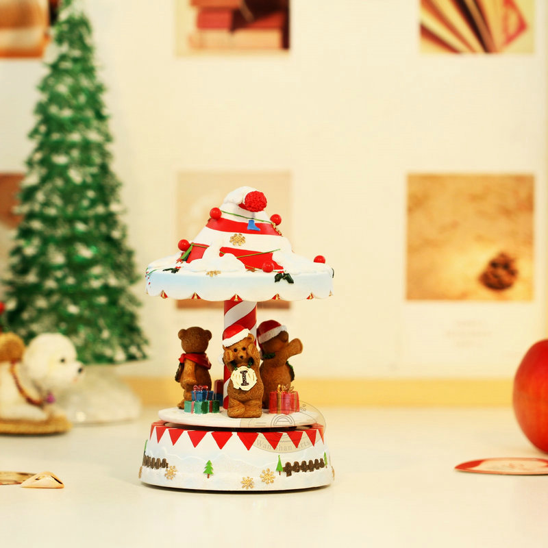 Luminous voice activated christmas music box x mas hats for Unusual gifts home