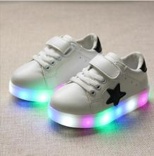 Children Shoes 2016 New fashion star Led Shoes Girls Princess Cute Shoes With Light luminous boy tenis girl trainer for baby(China (Mainland))