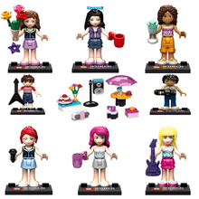 8pcs/Set Friends Girls Party Minifigures Action Figures Building Block Girls Toy Gift Minifigure legoelieds Friend For Girls(China (Mainland))