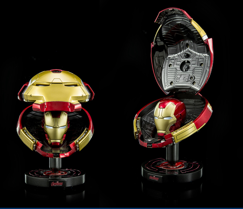 Iron Man Helmet  Avengers Marvel Hot Toys Hulkbuster Mask DHS-S8 1/5 Scale Collectible Deluxe LED Eyes Light 3D Head Portrait
