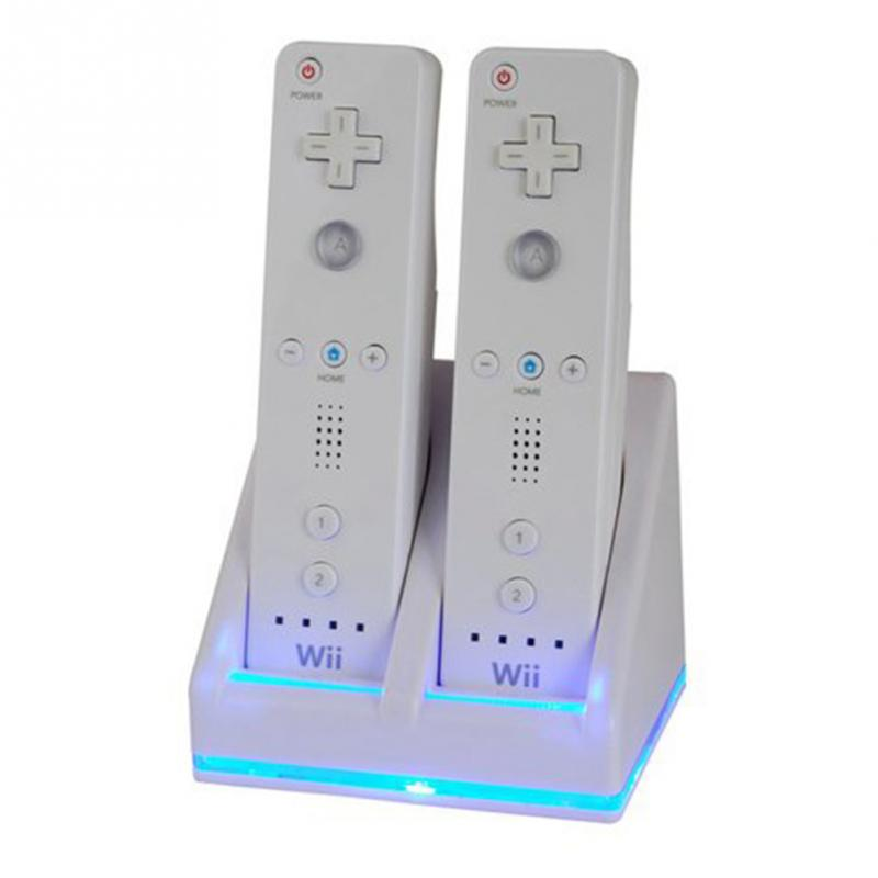 Double Dual Charging Station Charger Dock + Rechargeable Battery Cable Cord For Nintendo Wii Remote(China (Mainland))