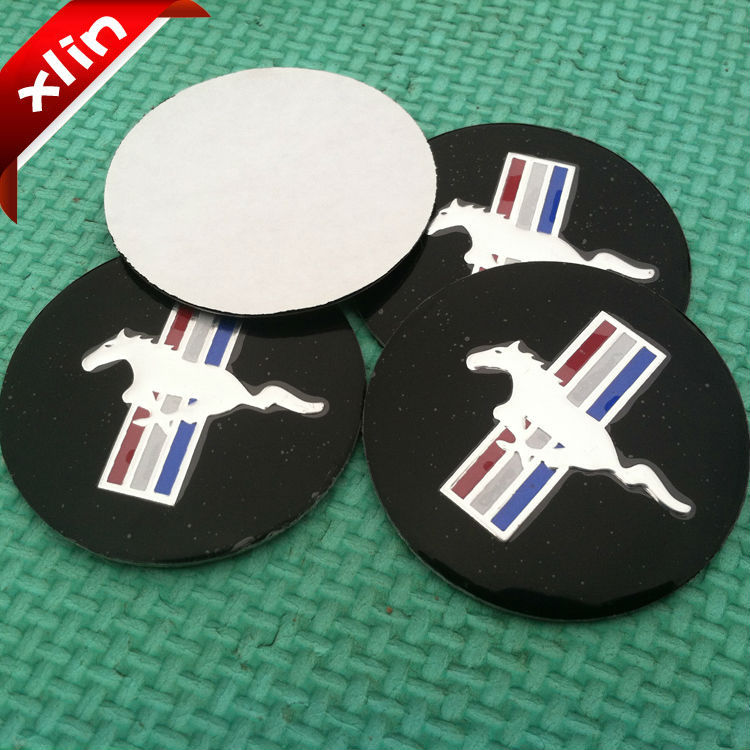 4pcs 56.5mm Mustang Running Horse logo car emblem Wheel Center Hub cap sticker Auto badge Decals(China (Mainland))