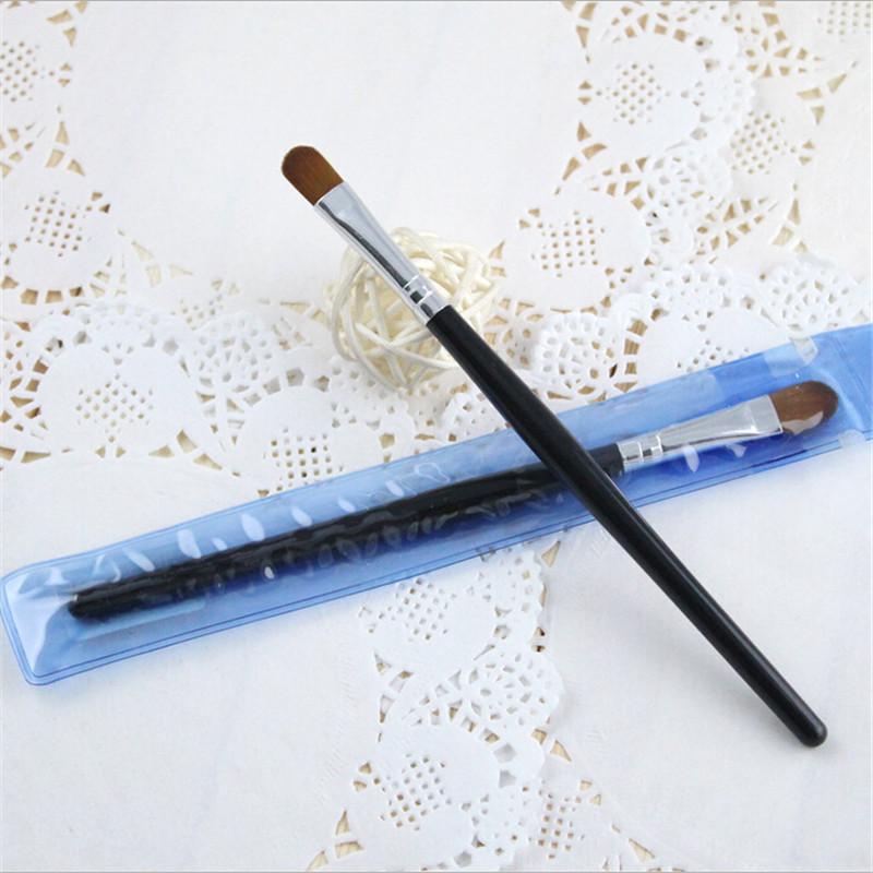 2pcs High Quality Wooden Eyeshadow Brushes Best Black Long Pole Make Up Brush Professional Cosmetics Eyeshadow Brushes Tools(China (Mainland))