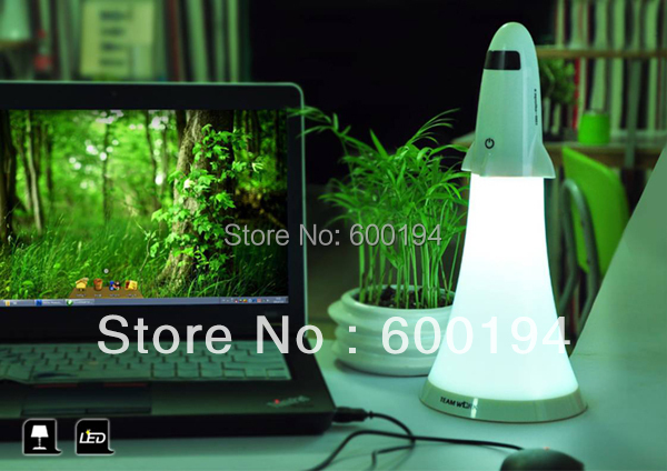 Apollo rocket launch Lamp / Night Light Creative LED hand lamp spaceship combo Rechargeable Lamps(China (Mainland))