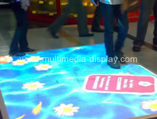Magic Interactive floor projection system for wedding, advertising, shopping mall, exhibition and play games(China (Mainland))