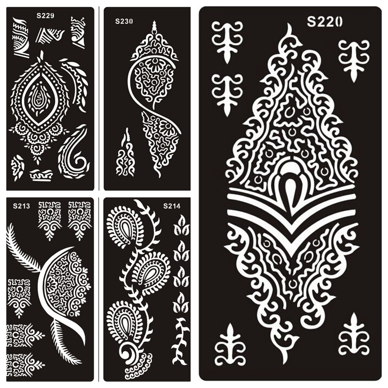 Buy 50 pcs henna tattoo stencils for hand for Henna temporary tattoo stencils
