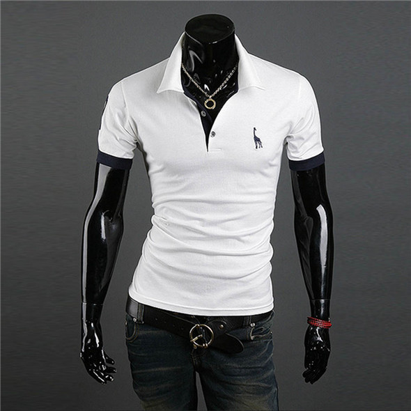 men 39 s casual tops tee v neck polo shirts slim fit short sleeve us m. Black Bedroom Furniture Sets. Home Design Ideas