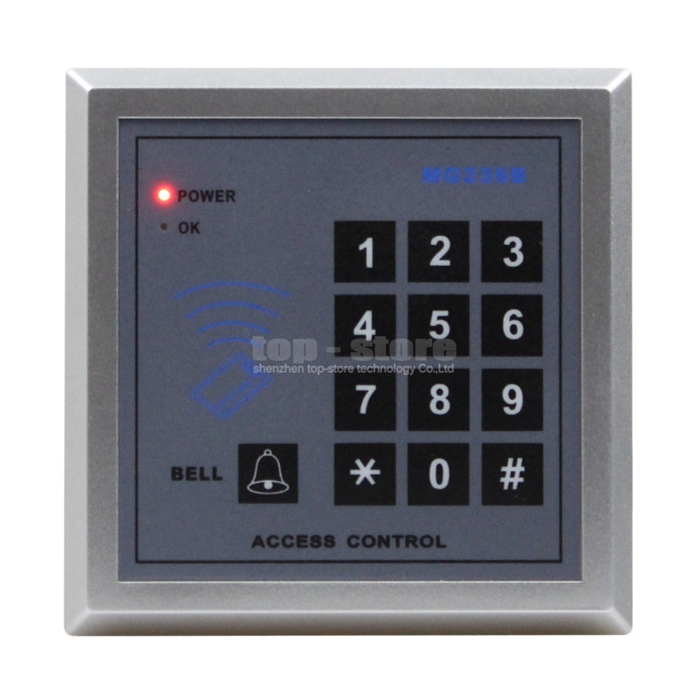 Door Access Controller Keypad 13.56MHz RFID IC Cards Proximity Reader + 10 Free IC Card for House / Office / Home Improvement(China (Mainland))