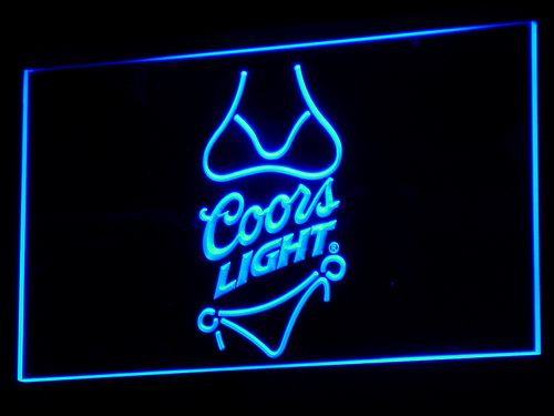 a119 Coors Light Beer Bikini Bar Pub LED Neon Sign with On/Off Switch 7 Colors to choose(China (Mainland))