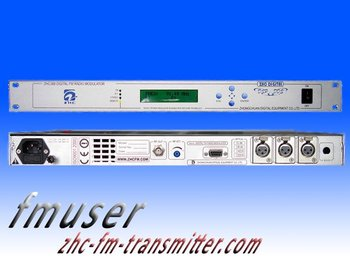 free shipping CZH368  25W Digital FM transmitter fm Broadcast Modulator 87MHz-108MHz professional fm transmitter