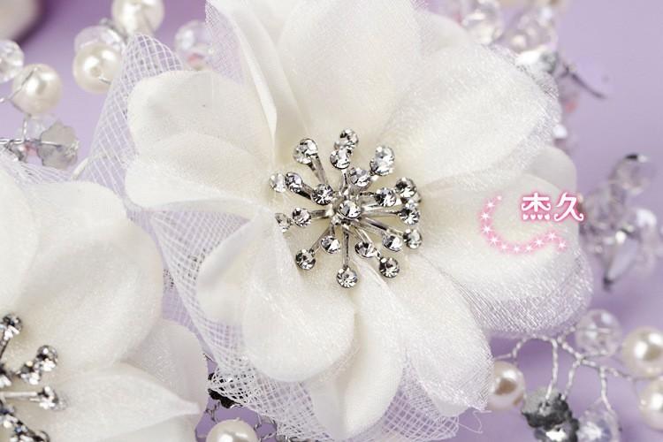 Fw17 красивый кристалл из бисера цветы украшения свадебной шляпы невесты шляпа красный