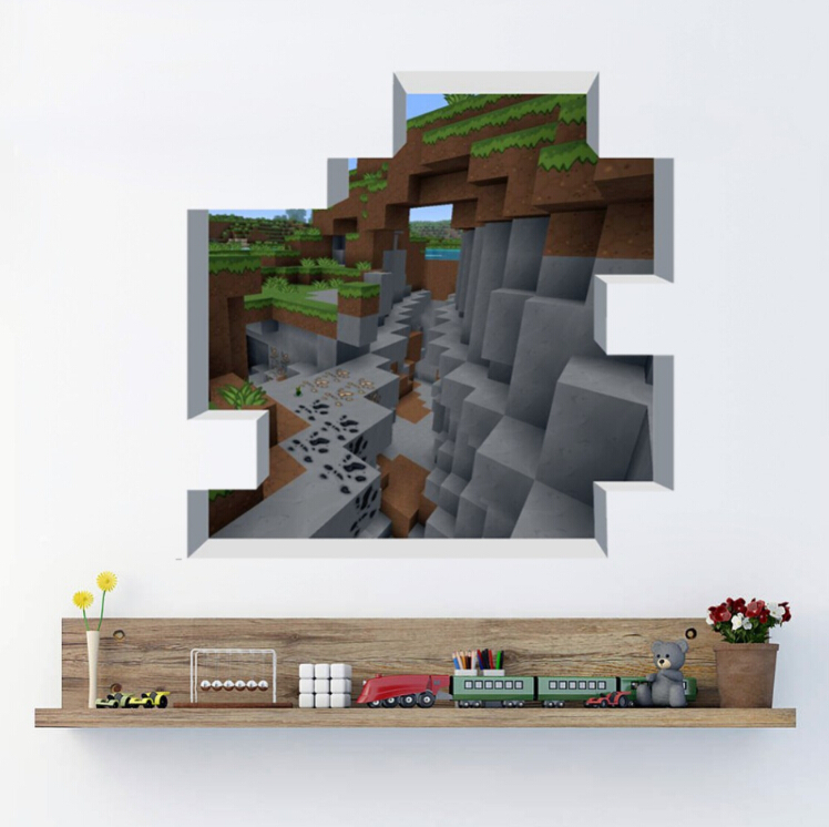 Newest Minecraft Wall Stickers Wallpaper Kids Room Decal Minecraft Home Decor