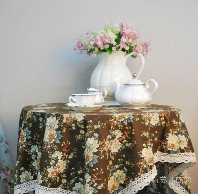 Korea style Classic peony Table Cloth dining table mat coffee tea table tablecloth bar restaurant decoration home decor LW0321(China (Mainland))