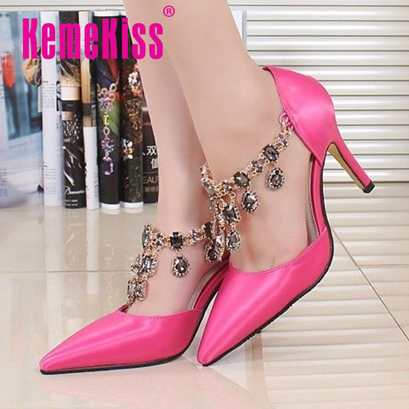 women real genuine leather stiletto pointed toe party high heel sandals brand sexy fashion heeled ladies shoes size 34-39 R6059<br><br>Aliexpress