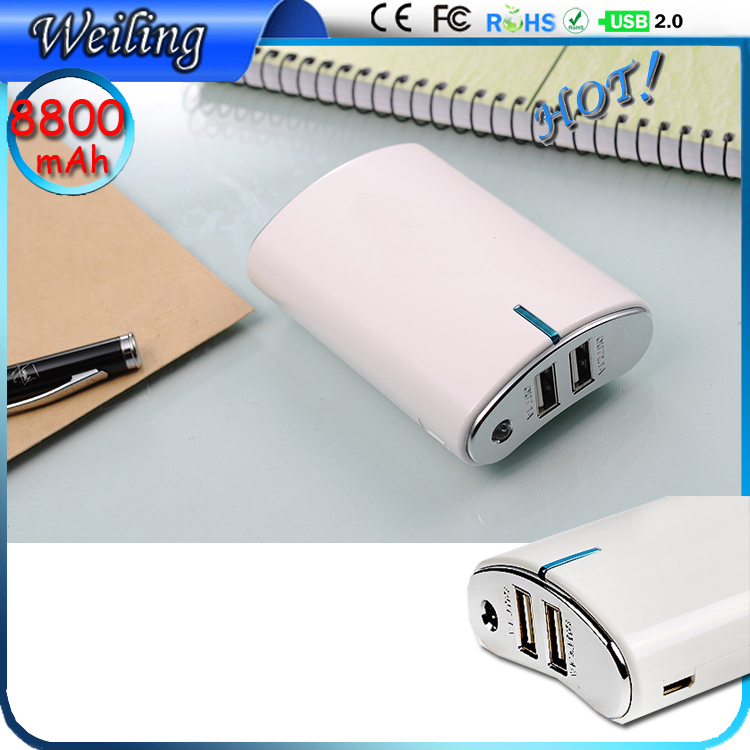 LED display Power Bank Wholesale 8800mah Power Bank with cable for smartphone /ipad New Design Power Bank(China (Mainland))