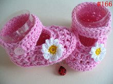 2012 Hotsale Handmade Crochet Baby Shoes,Flower Footwear,Baby knitted shoes ,free shipping to all country(Hong Kong)