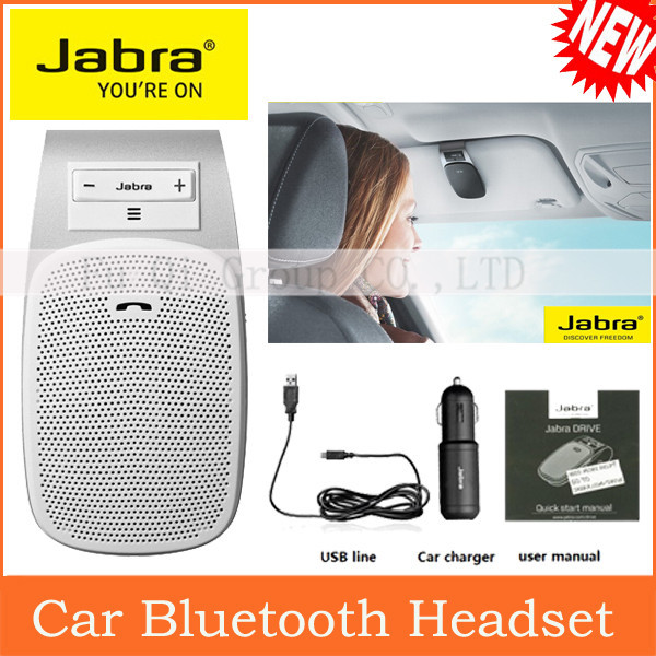 New 2015 Jabra DRIVE Leader Wireless Stereo Bluetooth Handsfree Speakerphone Car Kit With Charger Hands Free Bluetooth Car Kit.(China (Mainland))