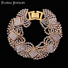 Austrian Crystal Silver Rhinestone Bracelet Wedding Jewelry Bangle Gift for Women SL076(China (Mainland))