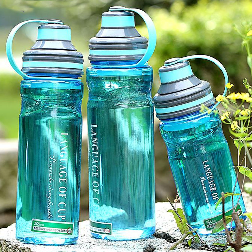 600/800/1000ML Break-resistant spacke water bottle cup with tea filter food grade plastic sports handy portable water bottle(China (Mainland))