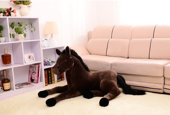 stuffed animal prone horse plush toy about 70x40cm simulation horse doll, Christmas gift w2242(China (Mainland))