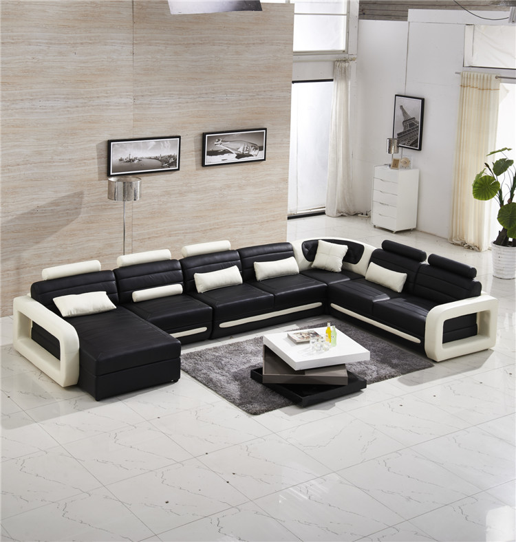modern sectional sofa with genuine leather(China (Mainland))