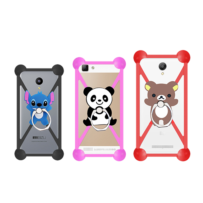 New Cartoon Ring Stand Soft Silicone Case For Prestigio Wize D3 Cell Phone Universal 3.5 - 5.5 Inch Bumper Frame Cover(China (Mainland))