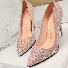 Summer New Fashion Sexy Women Silver Rhinestone Wedding Shoes Platform Pumps Red Bottom High Heels Crystal Shoes Gold Black Pink(China (Mainland))