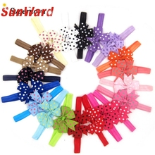 Buy 2017 lovely hair band Mini Bowknot Dot headband newborn girl Headbands Photography Props hair accessories Girl WSep6 for $4.62 in AliExpress store