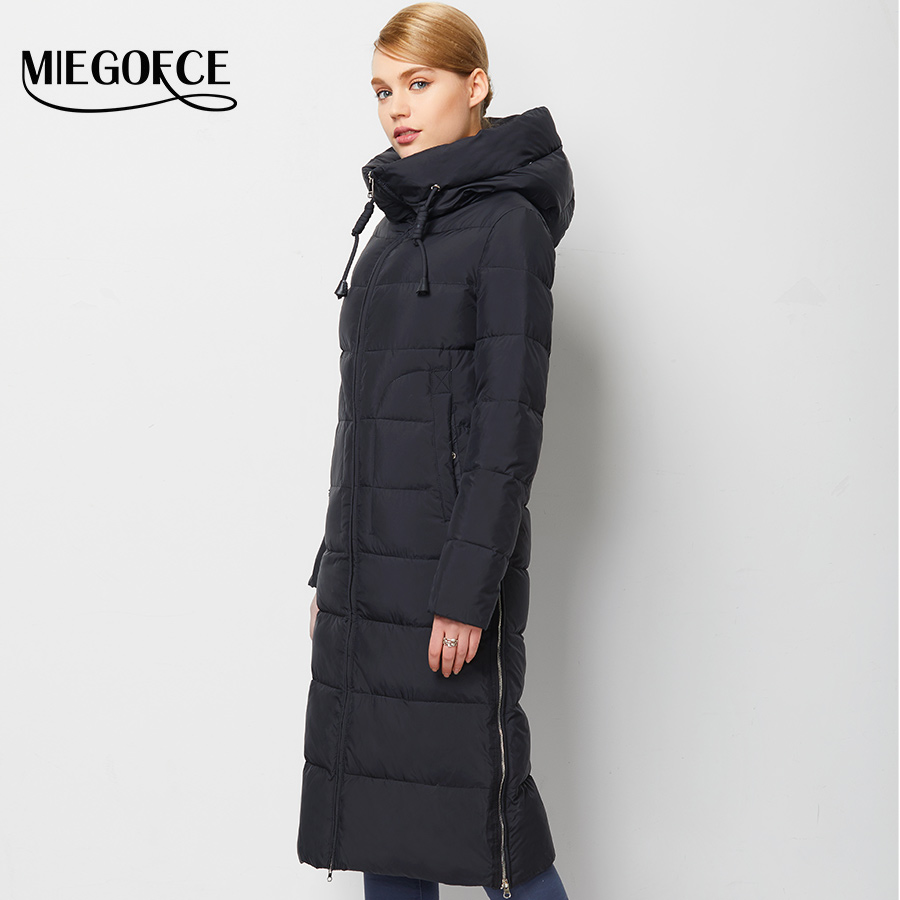 Women Winter Coat Jacket Warm Woman Parkas Female Overcoat High Quality Quilting Cotton Coat MIEGOFCE 2016 New Winter Collection(China (Mainland))