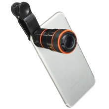 Buy Universal 8X Zoom HD Optical Telescope Lens Digital Zoom Clip Samsung HTC Mobile Cell Phone Camera Black Portable for $6.41 in AliExpress store