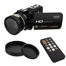 """Andoer HDV-Z20 Portable Camcorders 24 MP 16X Digital Video Camera Full HD 1080P 3.0"""" Touchscreen with 37mm 0.45x Wide Angle Lens(China (Mainland))"""