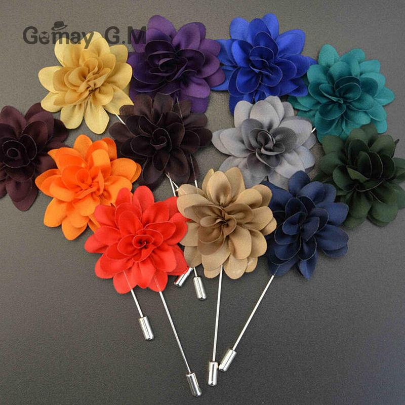 Jewelry Mens Flowers Brooches For Wedding Pin Up Lapel Pins for Male Vintage Suits Brooches for Wedding Party(China (Mainland))