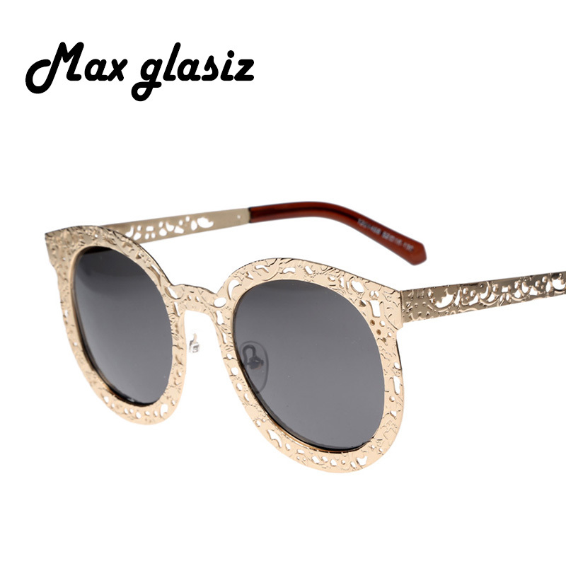 Circle Glasses Gold Frame : Carve-retro-sunglasses-gold-metal-frame-women-cateyes ...