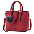 Korean Style Fashion Plaid Handbag Succinct Fur Ball Ornamet Large Chic Bag Luxury Designer Women All
