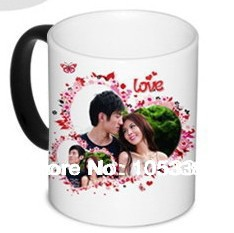 creative magic color change mug,customize your own photos,design or pictures onto it, factory price(China (Mainland))
