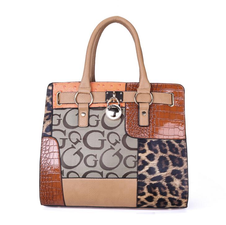 European and American fashion temperament of restoring ancient ways leopard grain PU handbag OL commuter simple messenger bags(China (Mainland))