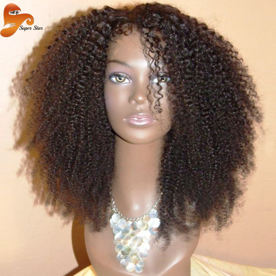 Cheap Brazilian Kinky Curly Full Lace Human Hair Wigs Virgin Hair Afro Kinky Curly Full Lace Front Wigs For Black Women In Stock