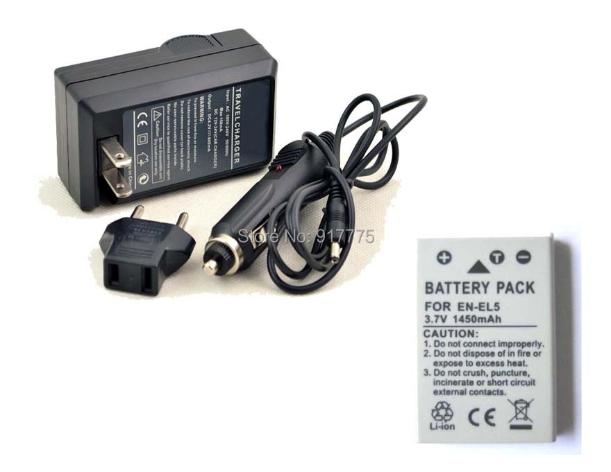 New 3 piece ENEL5 CP1 Rechargeable Battery AND charger For FinePix J10 J250 JV255 T200 Z91 Easyshare M883 Zoom Tough 725SW(China (Mainland))