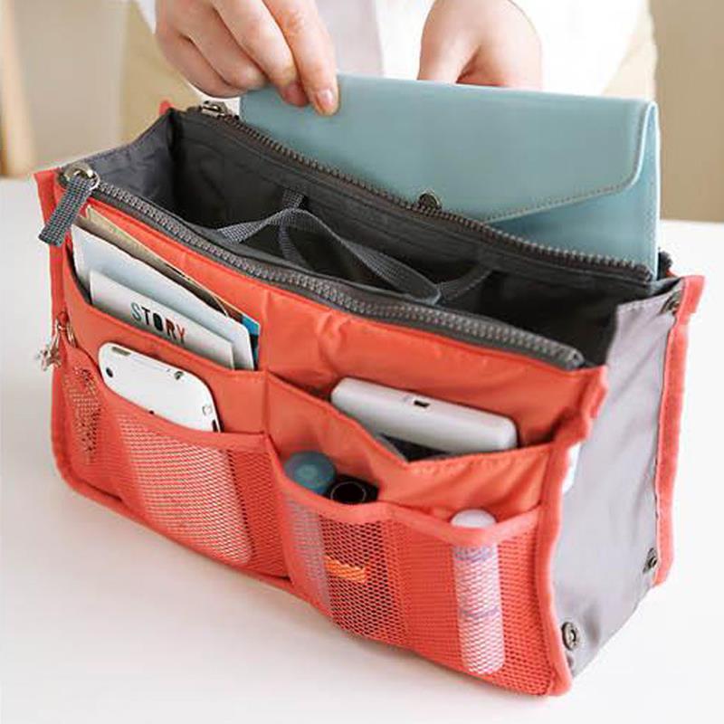 Multi-function Handbag Purse Organizer Insert Phone Cosmetic Bag in Bag Storage Case(China (Mainland))