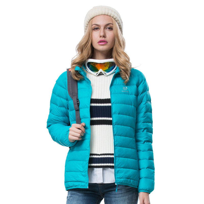 2015 Winter Warm Fashion Women Down Jacket Outdoor Sport Hiking & Camping White Duck Down Jackets Rose Red Thermal Blue Coat men