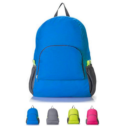 2015 Daily Backpacks Portable Zipper Soild Nylon Travel Backpack Traveling Folding Bags Women Backpack Shoulder Bags(China (Mainland))