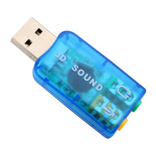 USB Sound Card USB Audio 5.1 External USB Sound Card Audio Adapter Mic Speaker Audio Interface For Laptop PC Micro Data(China (Mainland))