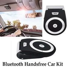 New Stereo Bass Wireless Bluetooth Car Kit Speaker Speakerphone Handsfree Car Kit for iPhone 5 6 Samsung s5 s6 HTC Sony(China (Mainland))