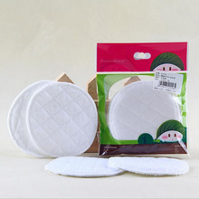 4pcs/lot Cotton Washable Breast Pads Galactorrhea Double Anti-overflow Nursing Pads Pregnant Maternity Pads Baby Feeding