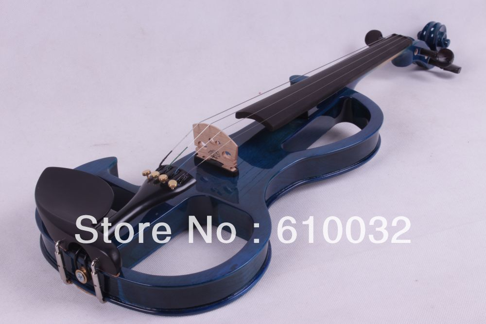 blue color  4/4 4 String Electric Violin Solid wood hand style 2-5 #<br><br>Aliexpress
